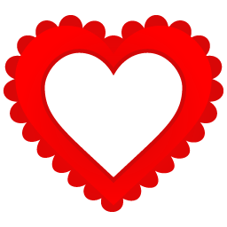 Hearts border png. Heart icon free vector