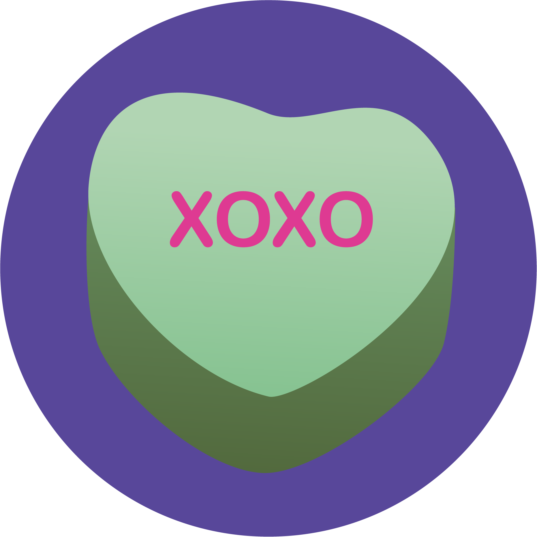 Heart candy png. Original nuckees phone grips