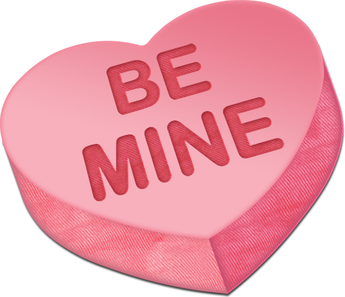 Heart candy png. Be mine clipart