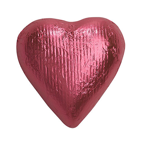 Heart candy png. Bright pink foiled solid