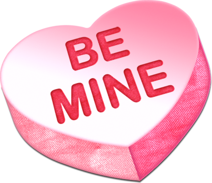 Heart candy png. Be mine