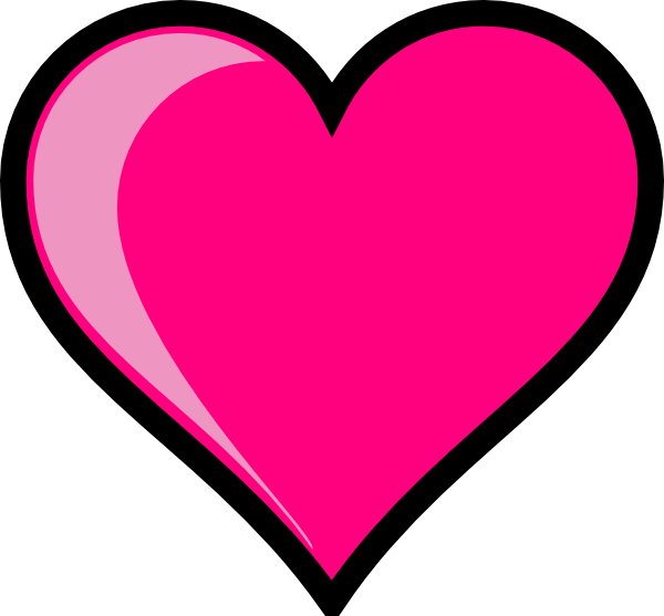 pink drawing heart