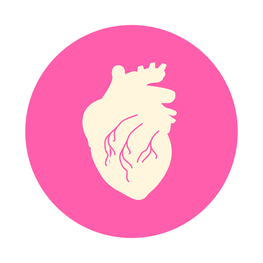 Heart circle png. Flat icon transparent svg