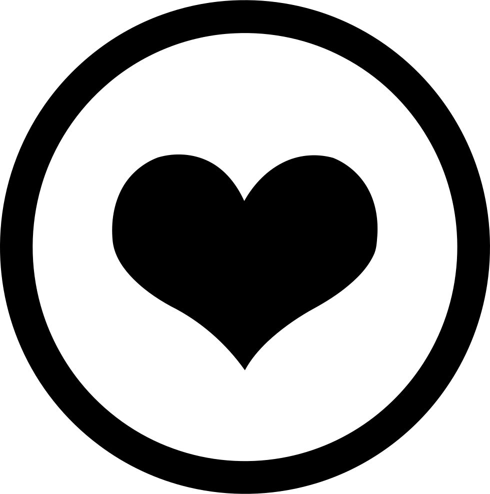Heart png icon. Circle svg free download