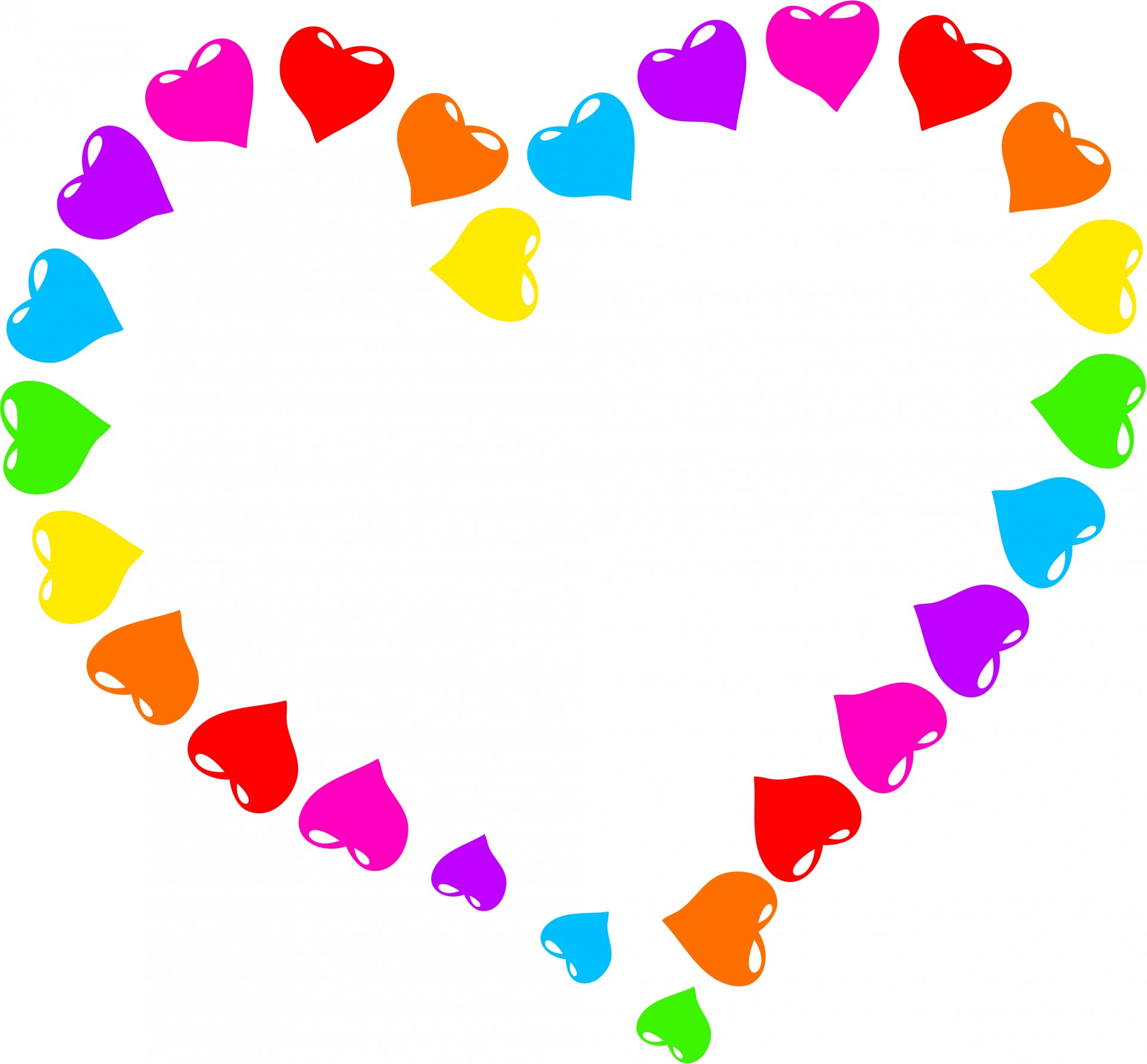 Rainbow free stock photo. Heart clipart picture transparent stock