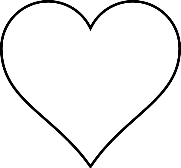 black heart outline png