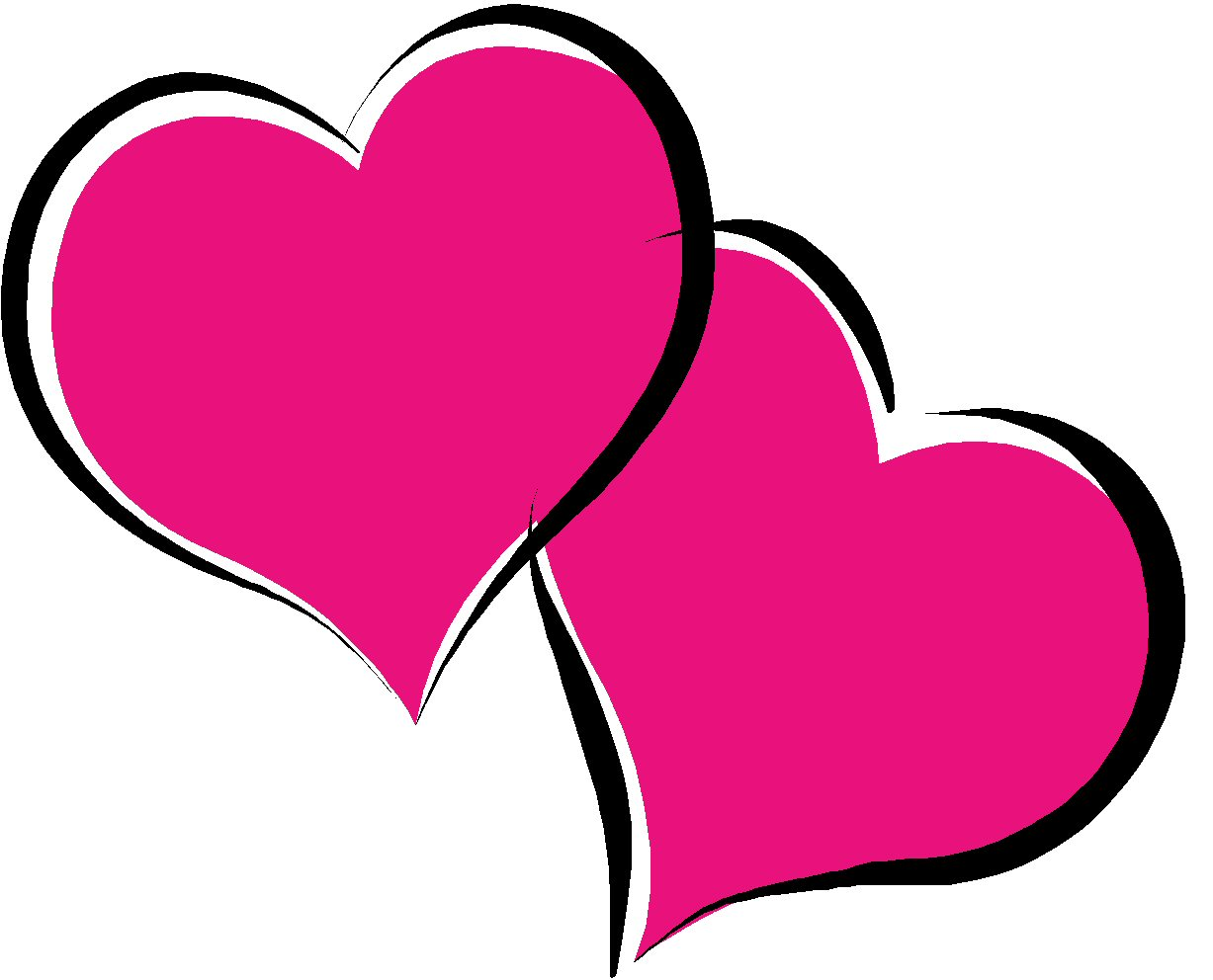 Hearts free images clipartix. Heart clipart clip black and white