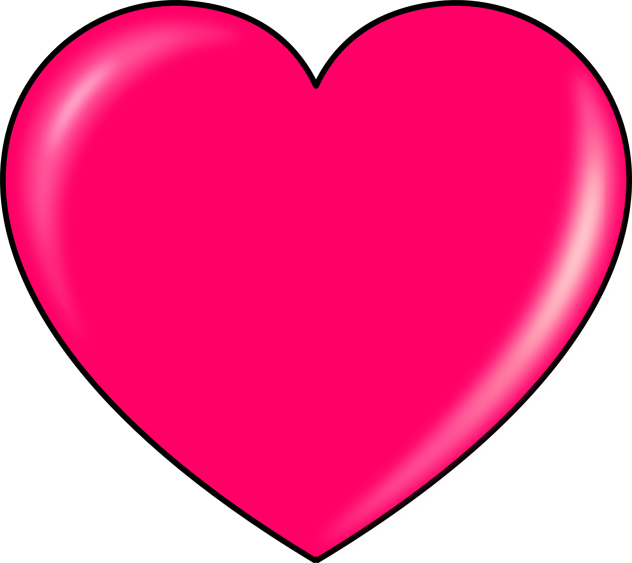Heart clipart. Pink transparent png stickpng