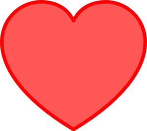 Heart clipart. Red with clip art