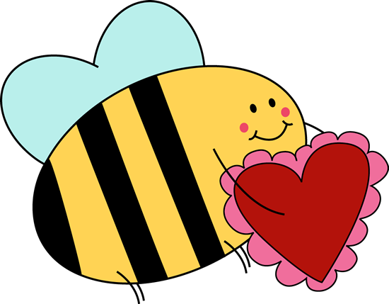 Heart clipart bee. Carrying valentine clip art