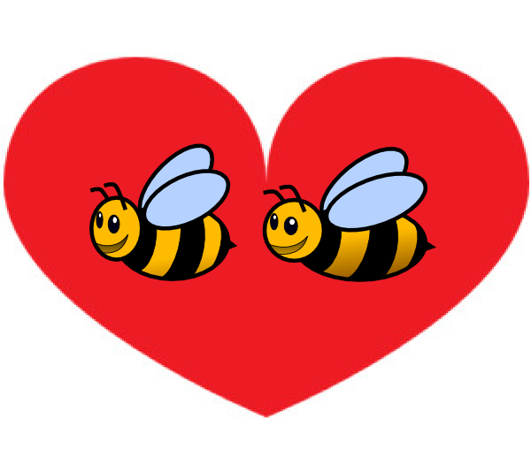 Heart clipart bee. Bumble clip art at