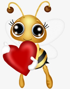 Heart clipart bee. Holding hearts love png