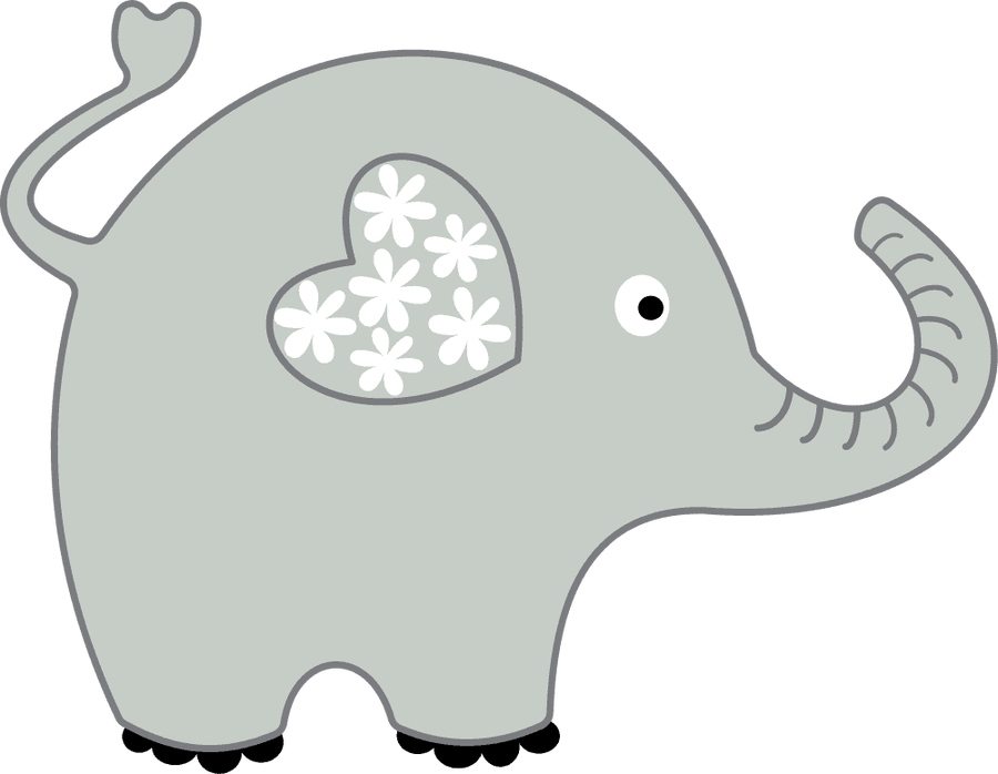 With ears of clip. Heart clipart elephant picture download