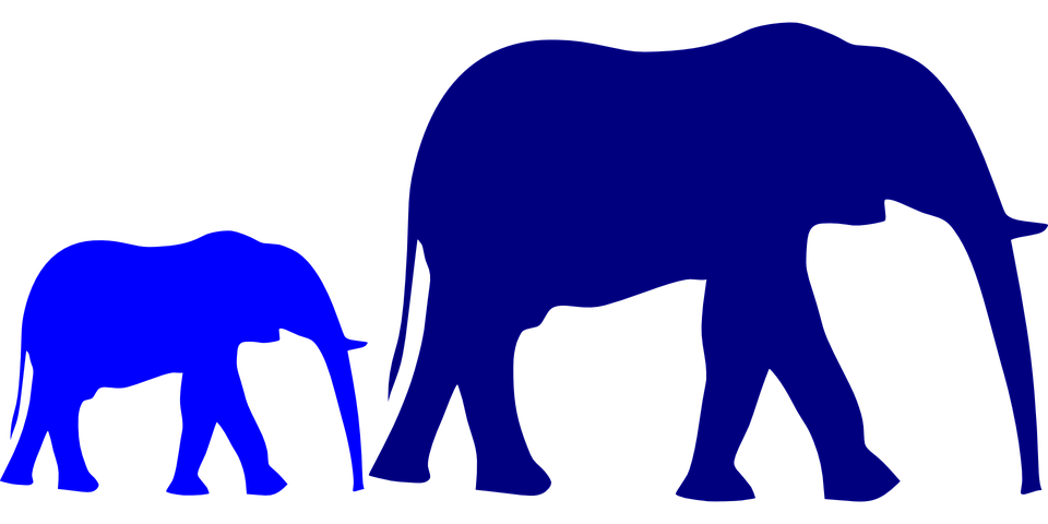 Heart clipart elephant. Free image on pixabay