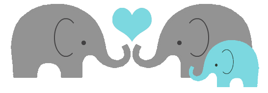Heart clipart elephant. Gray baby png transparent