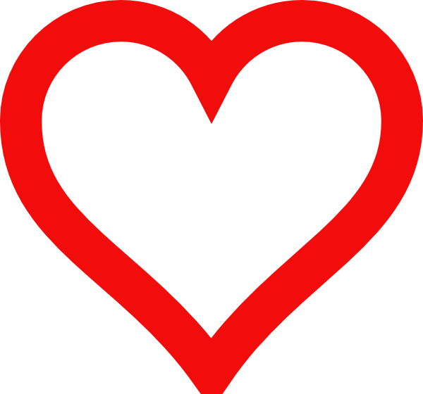 Heart clipart person. Outline clip art at