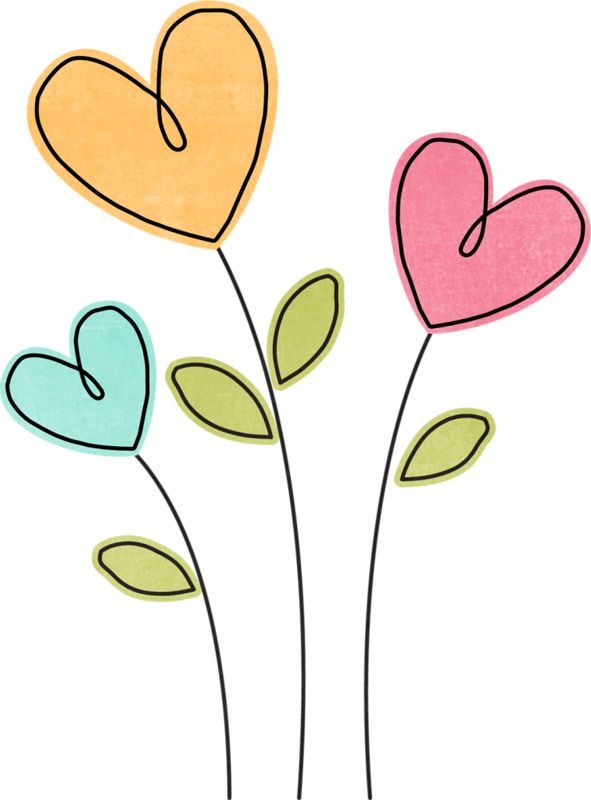 Heart clipart plant. Flower at getdrawings com
