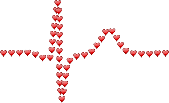 Heart clipart pulse. Rate petal leaf free