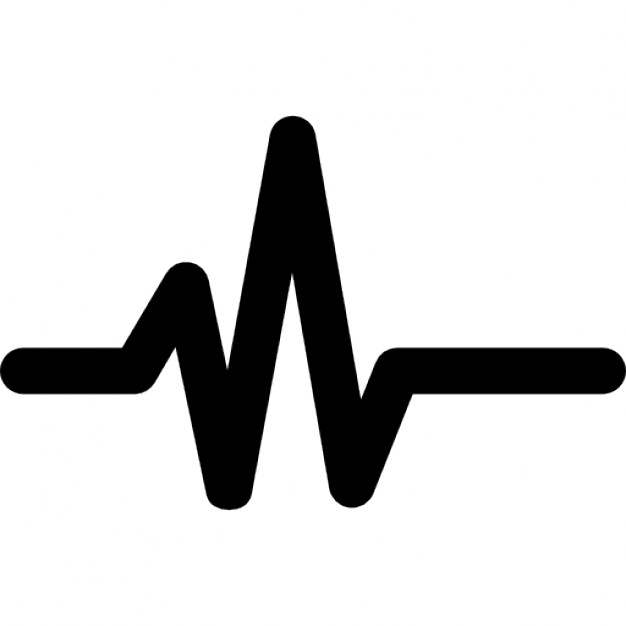 Line icons free download. Heart clipart pulse picture freeuse stock