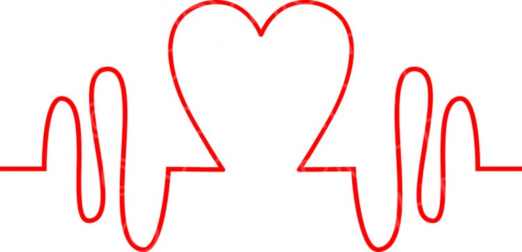 Heartbeat health monitor icon. Heart clipart pulse png black and white stock