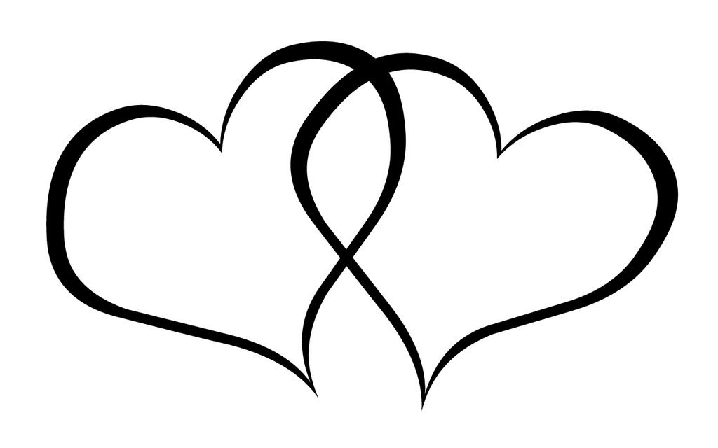 Black and White Heart Clip Art Free