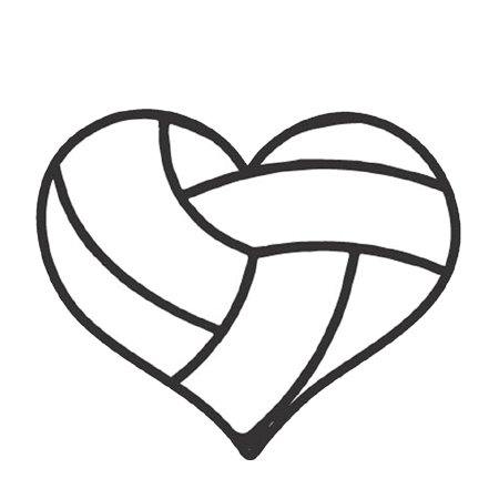 Heart clipart volleyball. List of synonyms and
