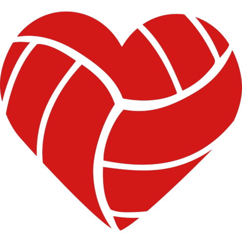 heart clipart volleyball