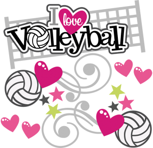 Heart clipart volleyball. Sports miss kate cuttables