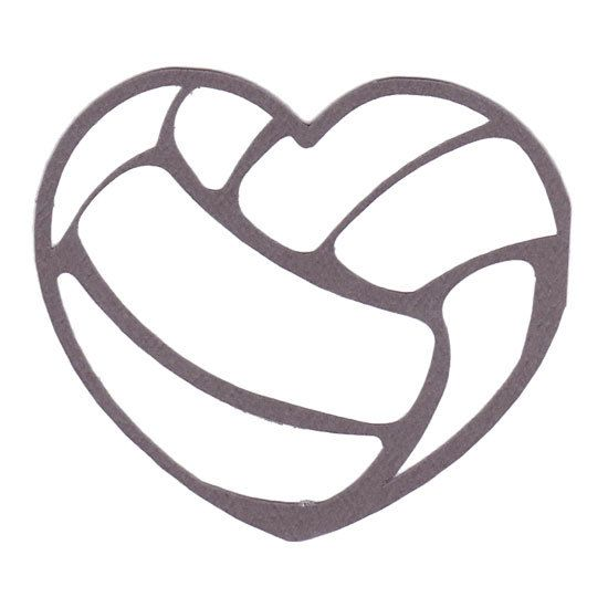 Heart clipart volleyball. Kid tattoos pinterest