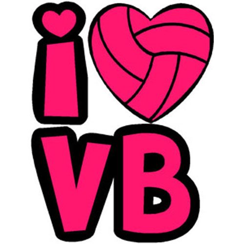 Heart clipart volleyball. I temporary tattoo