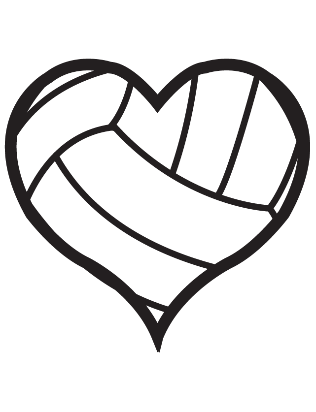 Heart clipart volleyball. Waterless tattoos ship in