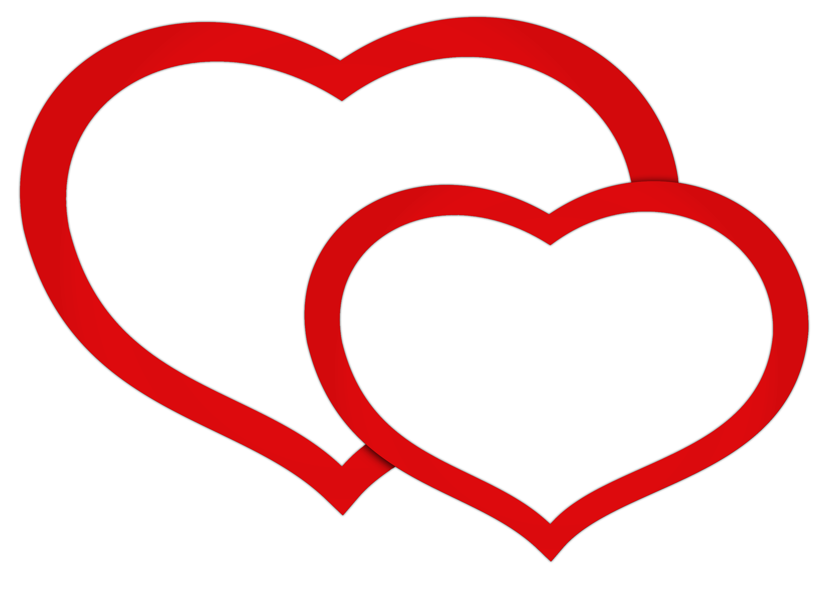 Two heart png. Free double hearts pictures