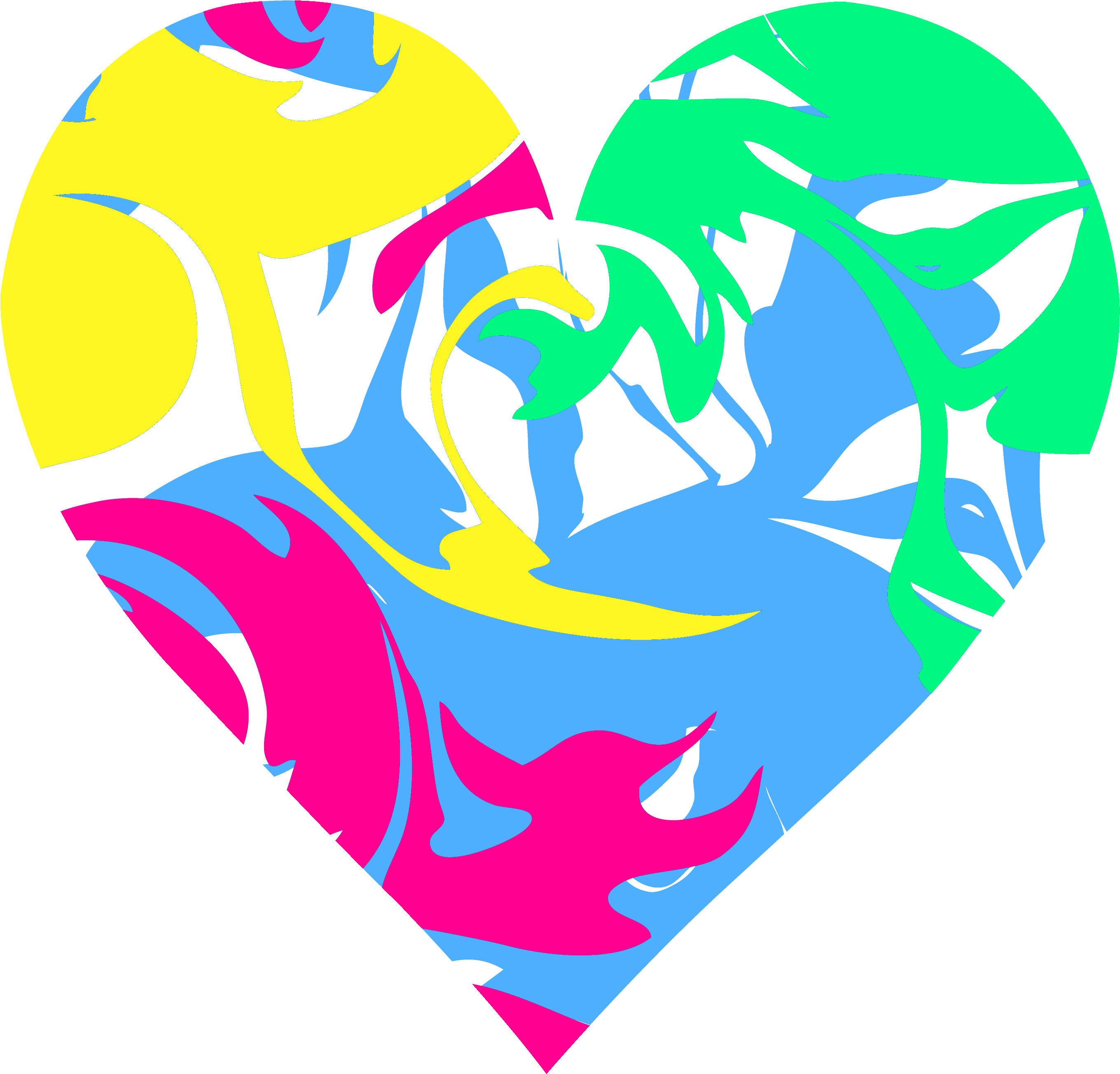 Hearts pretty colorful x. Heart clipart water royalty free