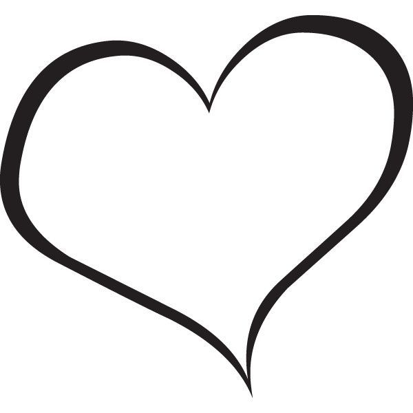Heart clipart. Black and white clip