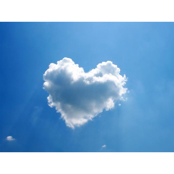 Heart cloud png. Clouds good news planet
