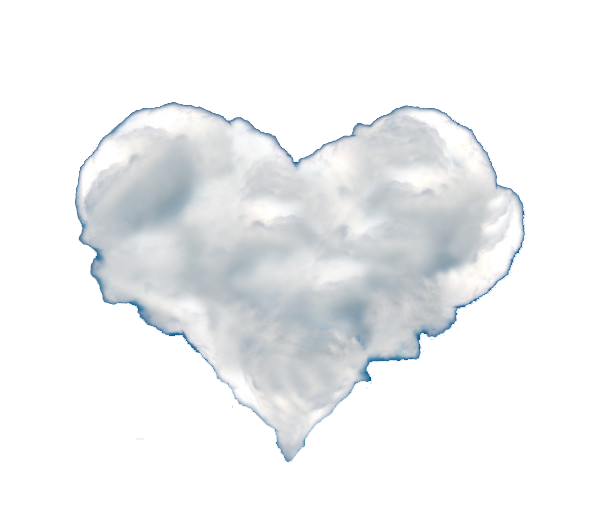 Heart cloud png. Shape love shaped transprent