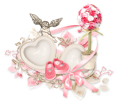 Heart cluster png. Free photo tape angel