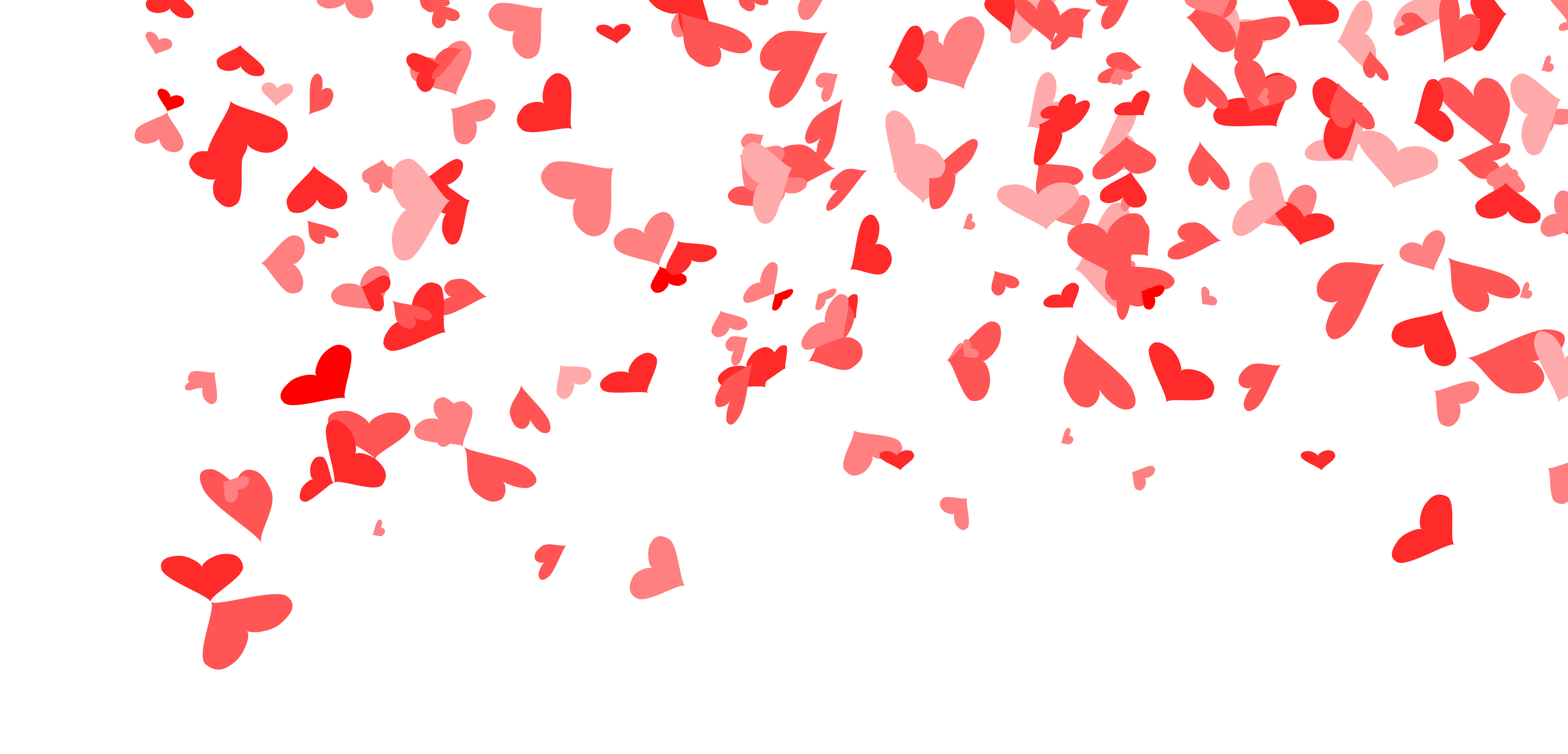 Heart confetti png. Background transparent onlygfx