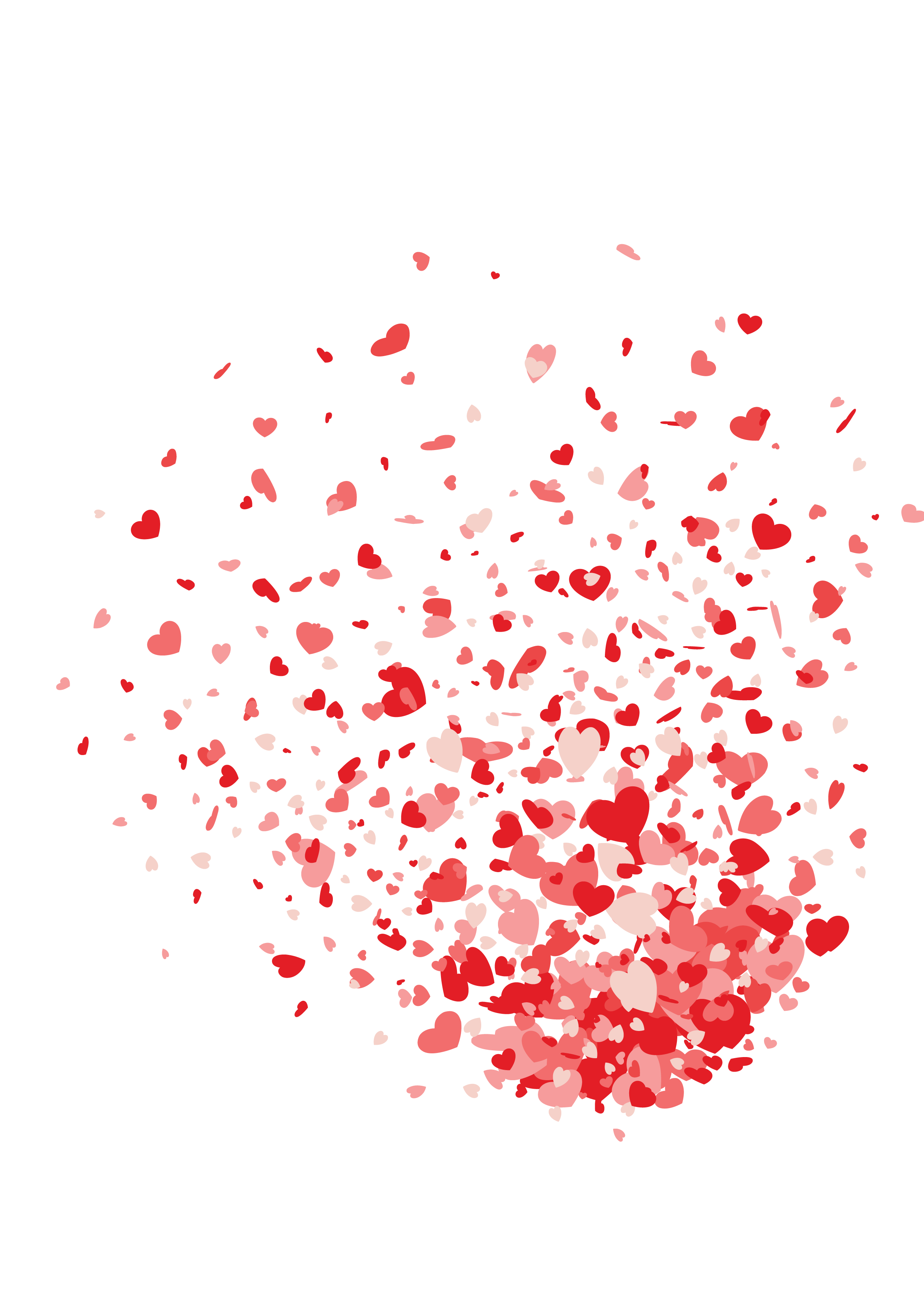 Heart confetti png. Valentine s day gift