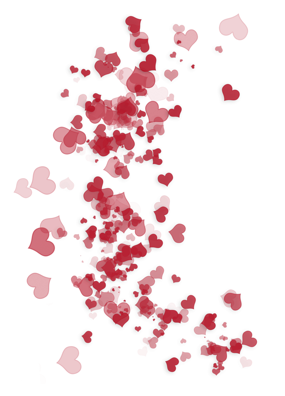 Heart confetti png. Transparent red ornaments picture