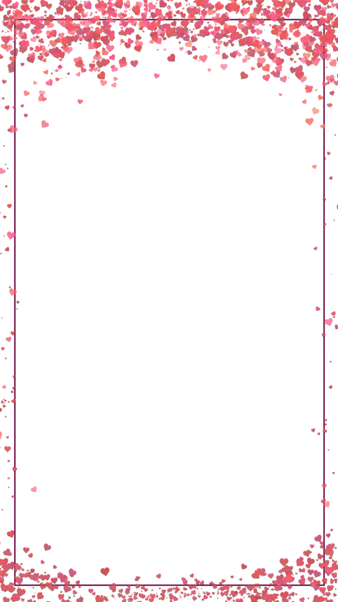 Heart confetti png. Whimsical valentine s day