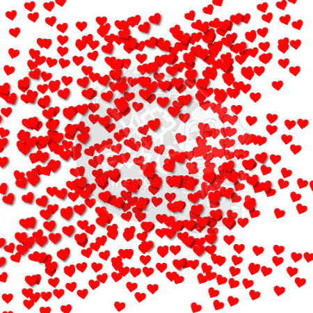 Heart confetti png. Cannon for wedding shaped