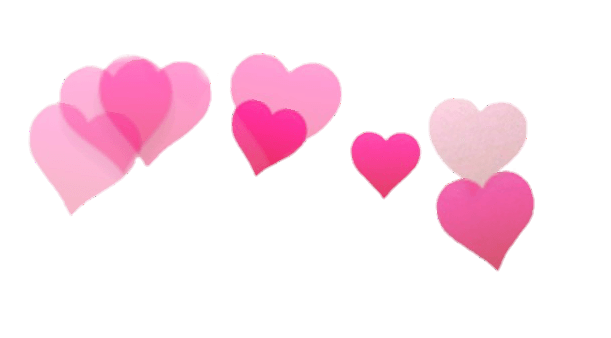 Heart crown png. Snapchat filter hearts transparent