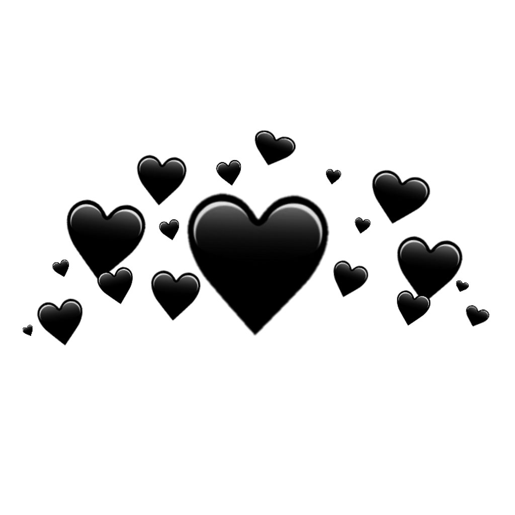 Heart crown png. Black blackhear