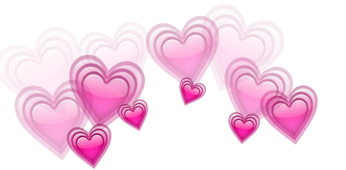 Heart crown png. Hearts love beautiful sticker