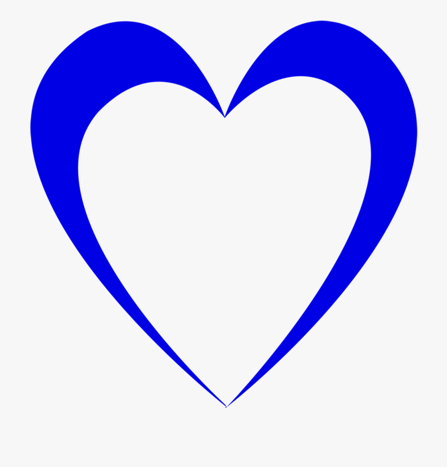 Heart Cuore. Wedding clip art blu