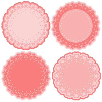 Doily transparent silhouette. Heart doilies svg scrapbook