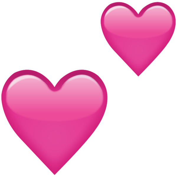 Heart emoji png. Download two pink hearts