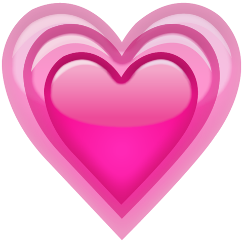 Download growing emoji island. Pink heart icon png banner royalty free stock