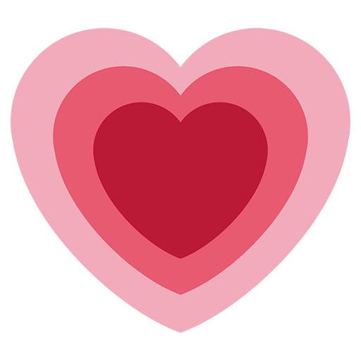 Facebook heart png. Growing emoji for email